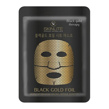 Фольгированная маска «Черное золото»
