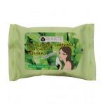 Очищающие салфетки для снятия макияжа «Зеленый чай»мини упаковка 15шт